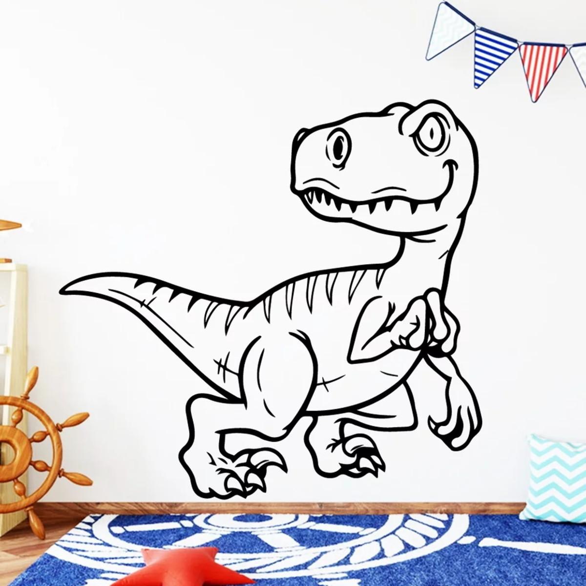 Adesivo Decorativo Dinossauro Dos Desenhos Animados No Elo7 Toca