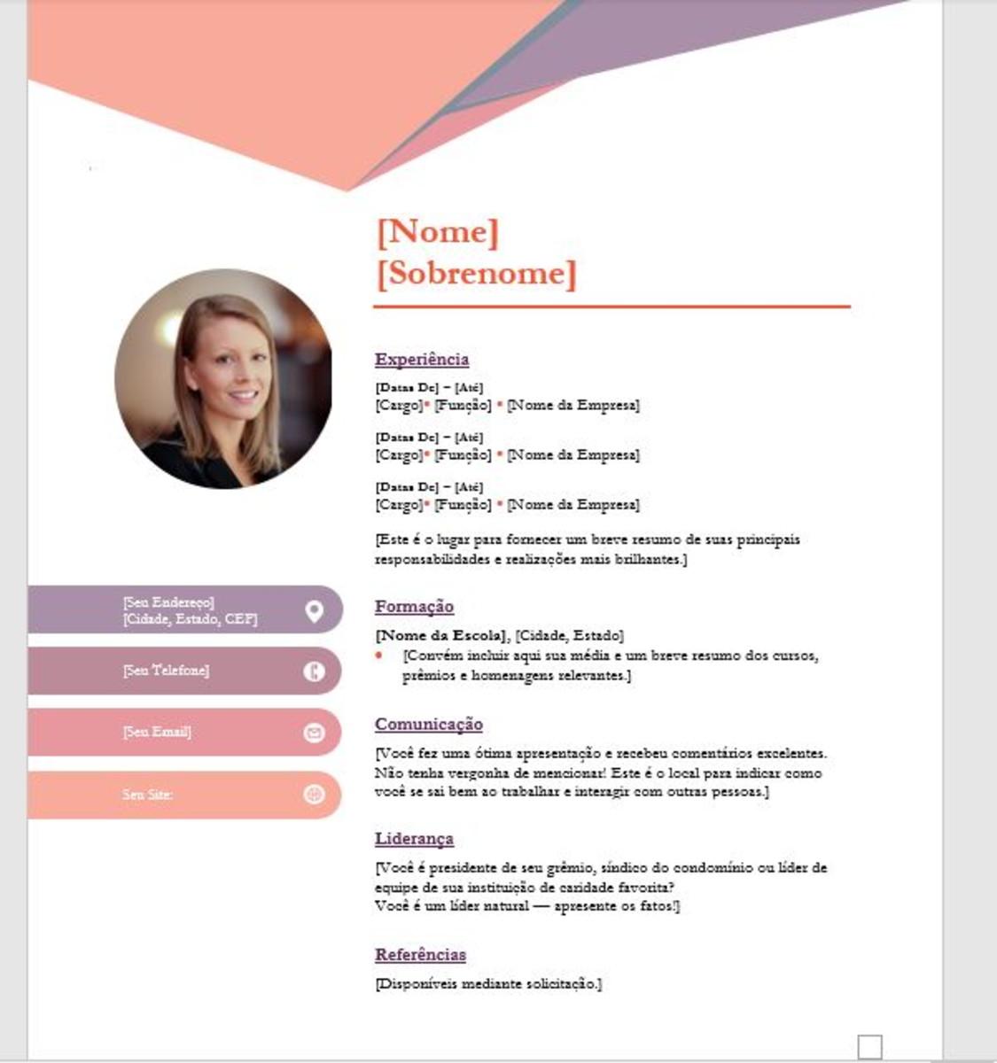 Currículo simples ou personalizado + Carta Apresentação (Ela