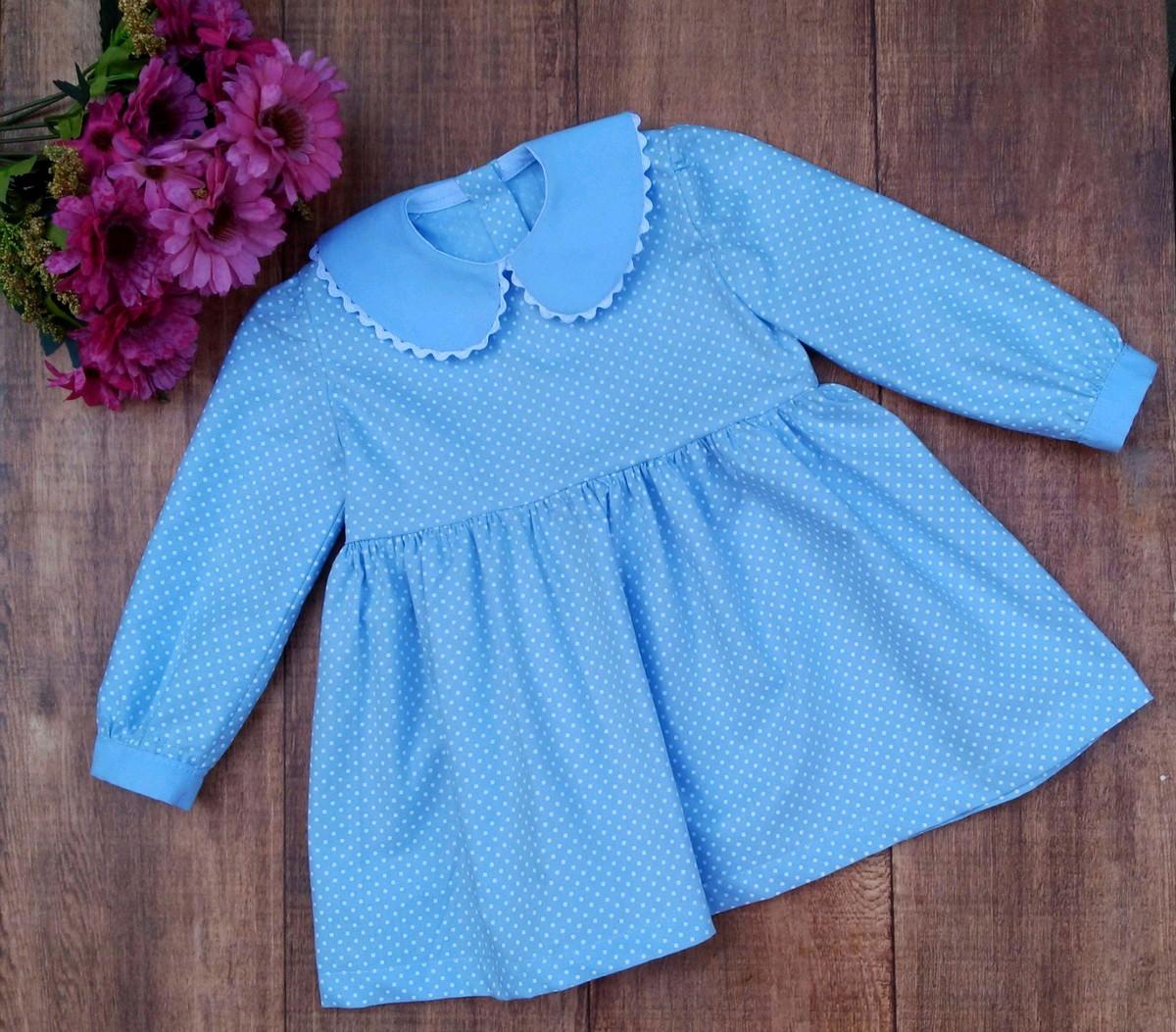 Vestido Para Bebê Manga Longa