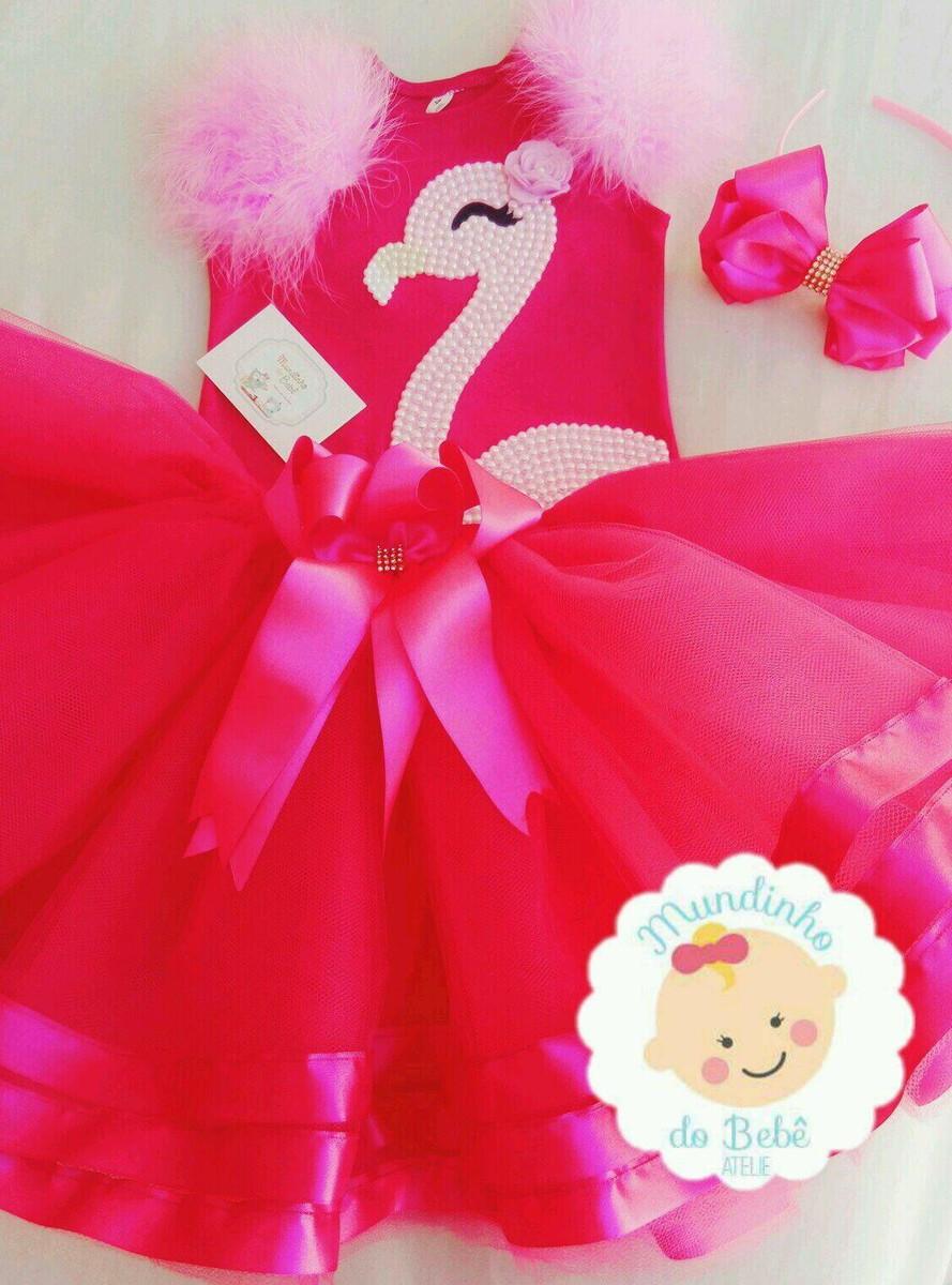 Vestido De Flamingo No Elo7 Jessica Caroline Sanches Padilha F6b2cd
