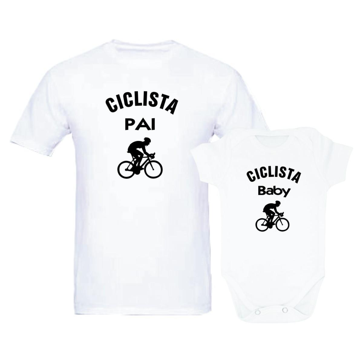 f29a0ea97 Kit Tal Pai Tal Filho Filha Ciclista Pai Baby Dia dos Pais no Elo7 ...