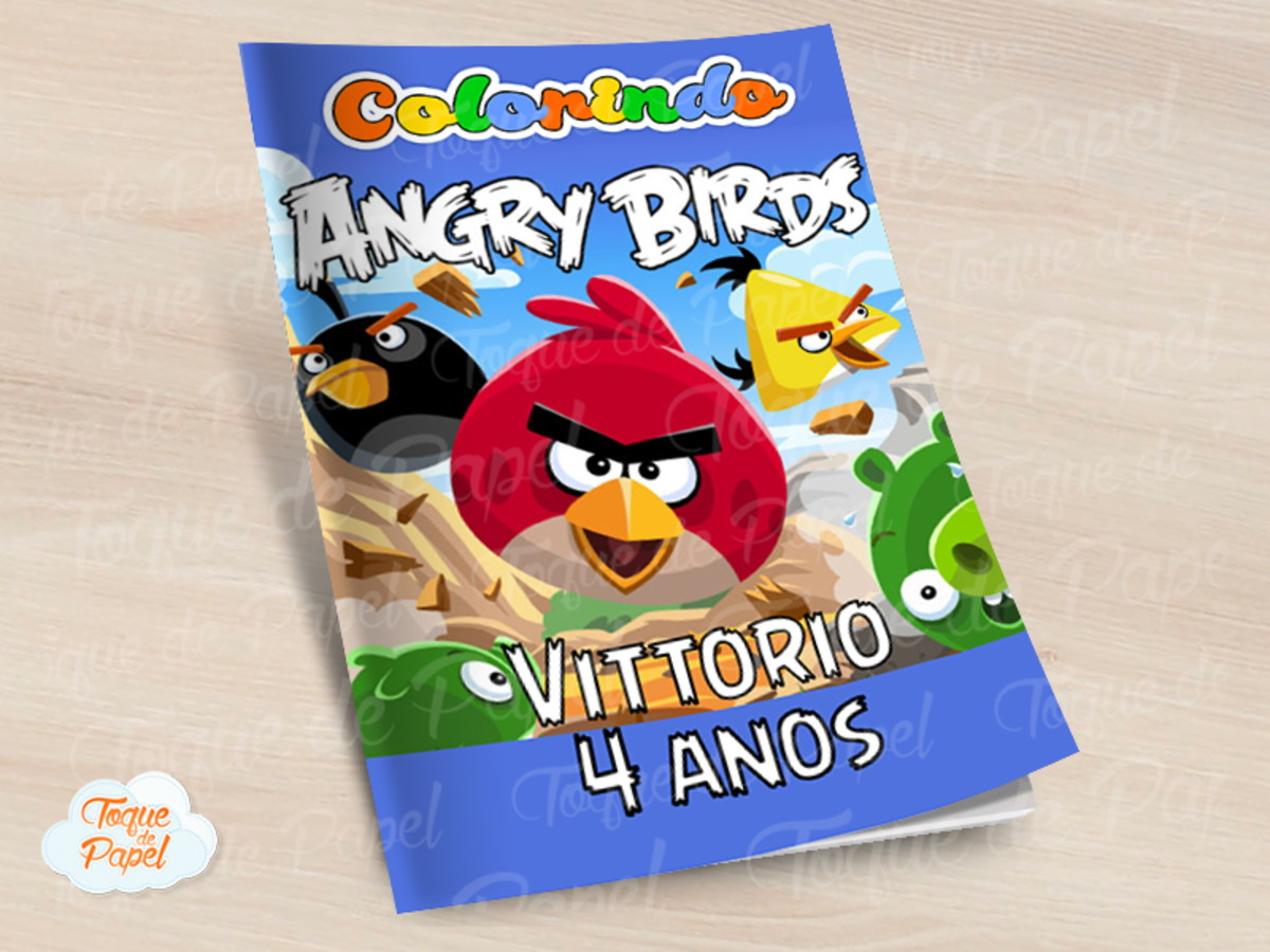 Revista Colorir Angry Birds No Elo7 Toque De Papel F7087b