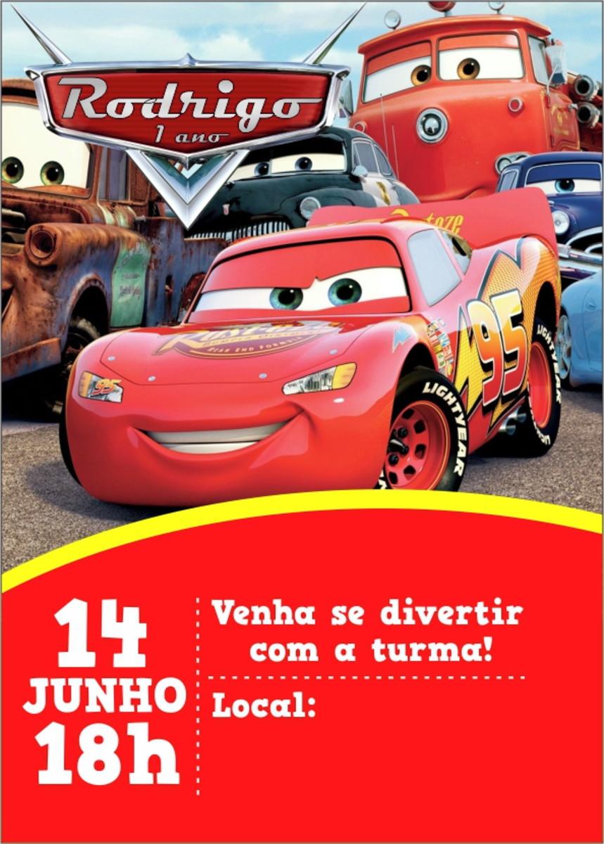 Convite Digital Carros No Elo7 Alfa Criacoes F71ee9