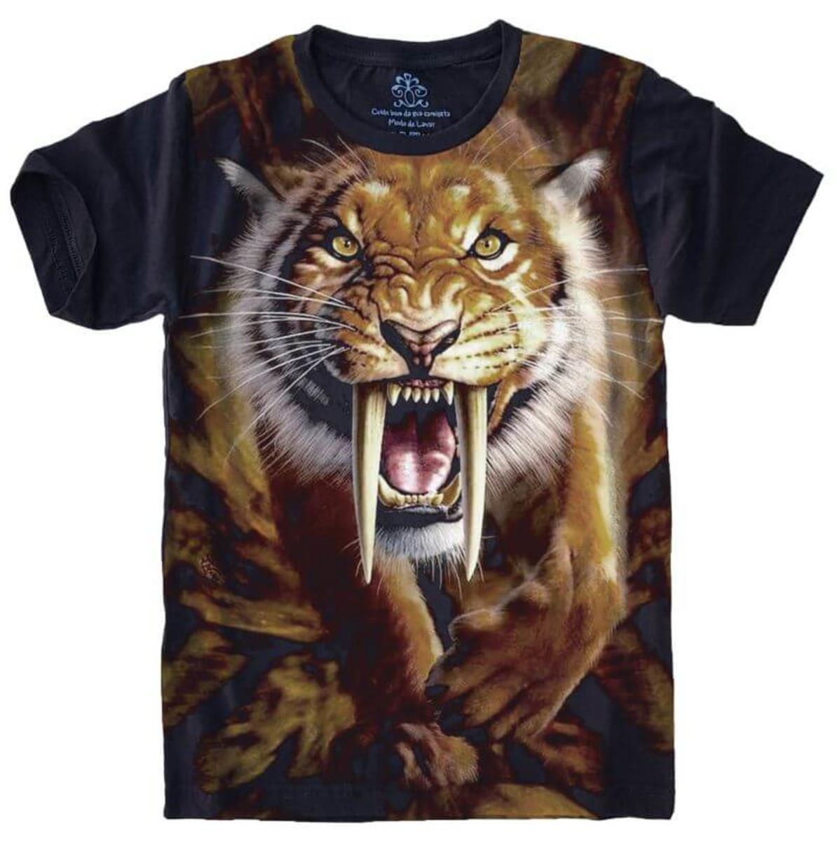 773d458567c5d Camiseta Tigre Dente de Sabre no Elo7 | CAMISETAS NERD STARK (F71F51)
