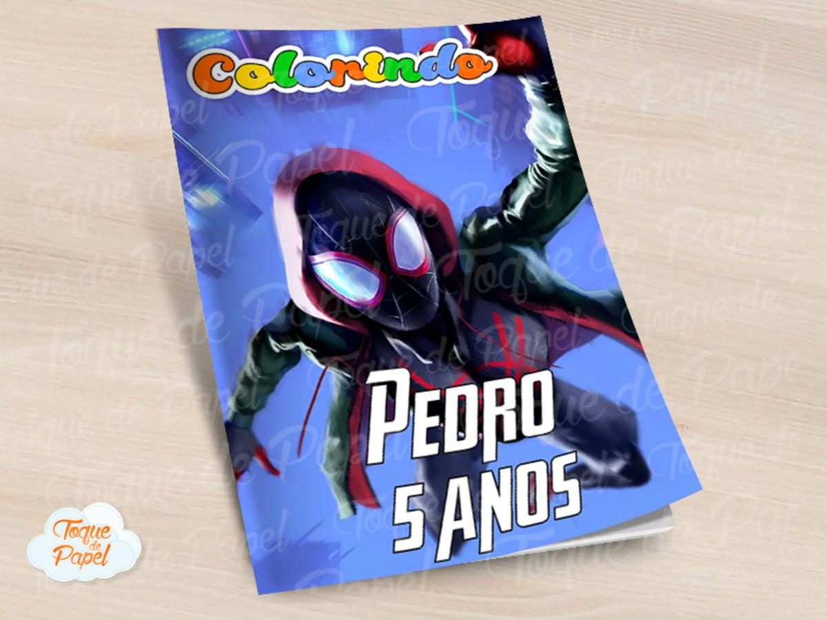 Revista Colorir Homem Aranha No Aranhaverso No Elo7 Toque De
