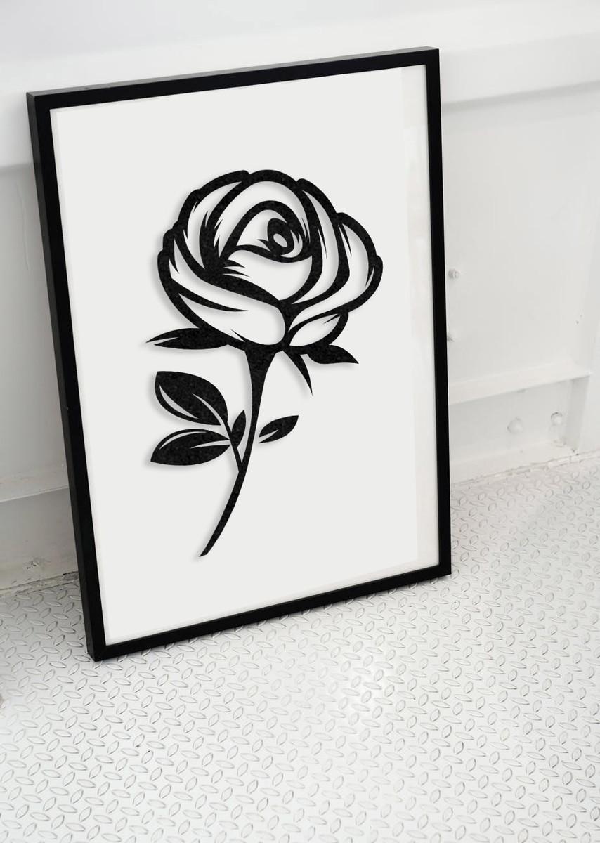 Placas Decorativas De Mdf Rosa Negra No Elo7 Laser Raids F73e0a