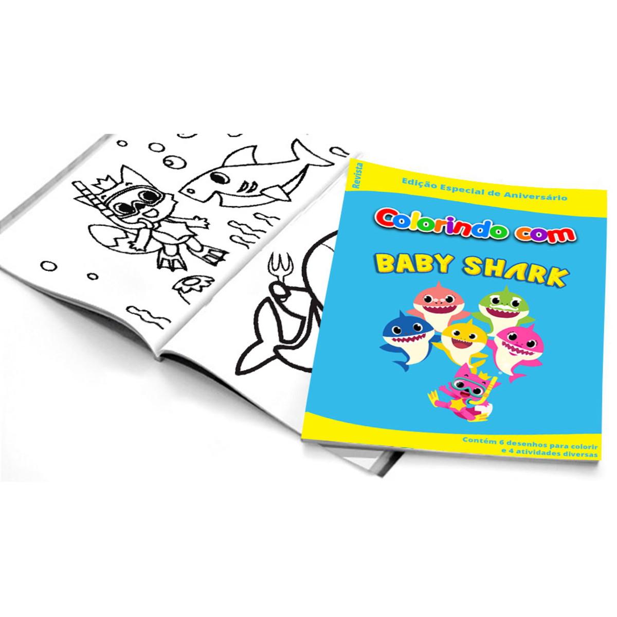 5 Cadernos De Colorir Baby Shark No Elo7 Belas Cores