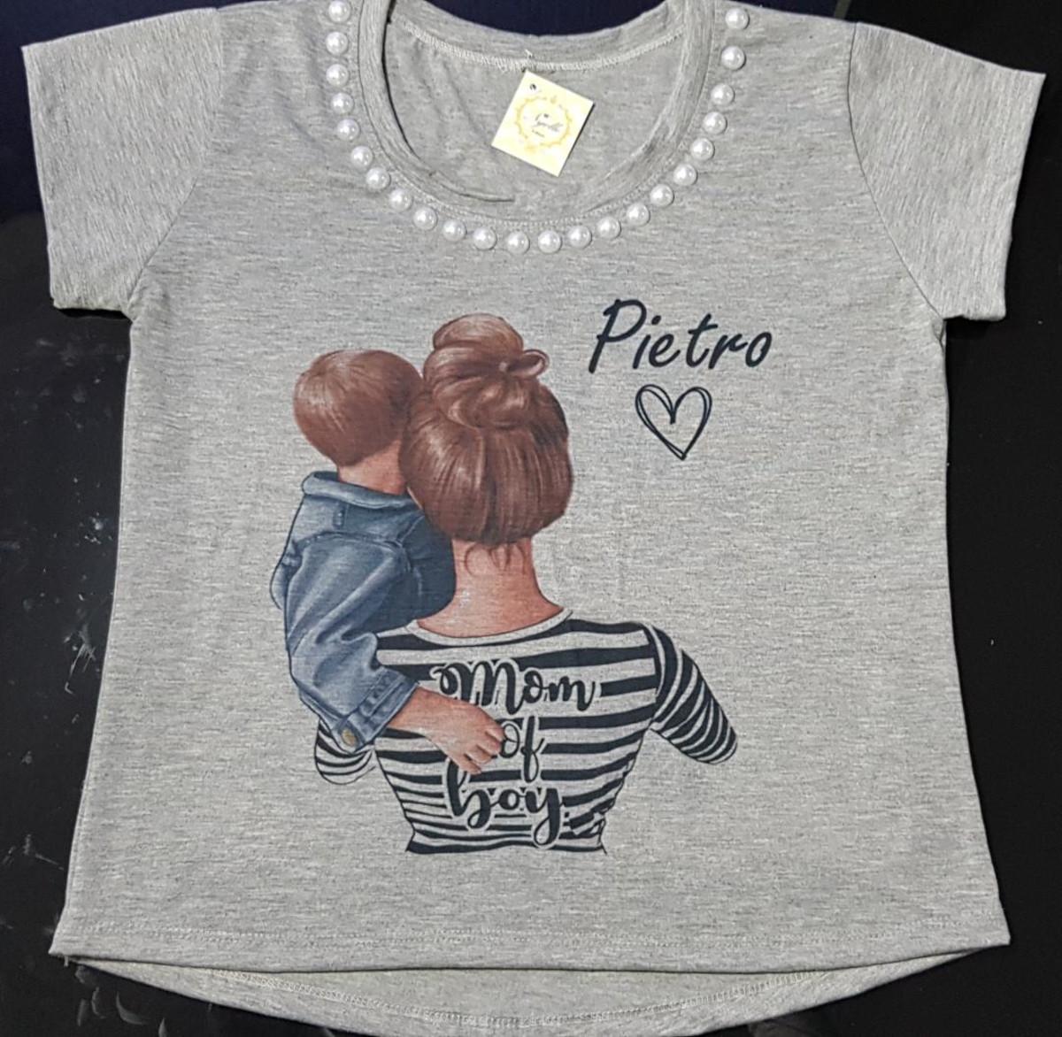 342680362 Camiseta Feminina - Mãe de 1 menino personalizada no Elo7   Nyelle T ...
