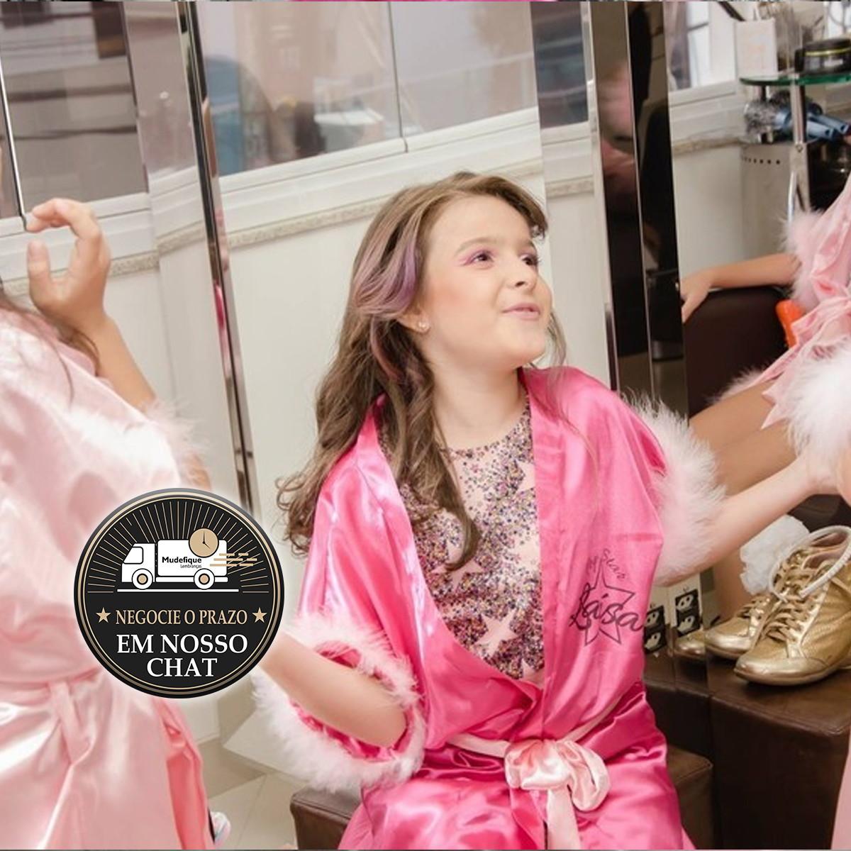 45b9df1152ff1e Robes de Cetim Infantil Salão Spa Divas Popstar Limosine