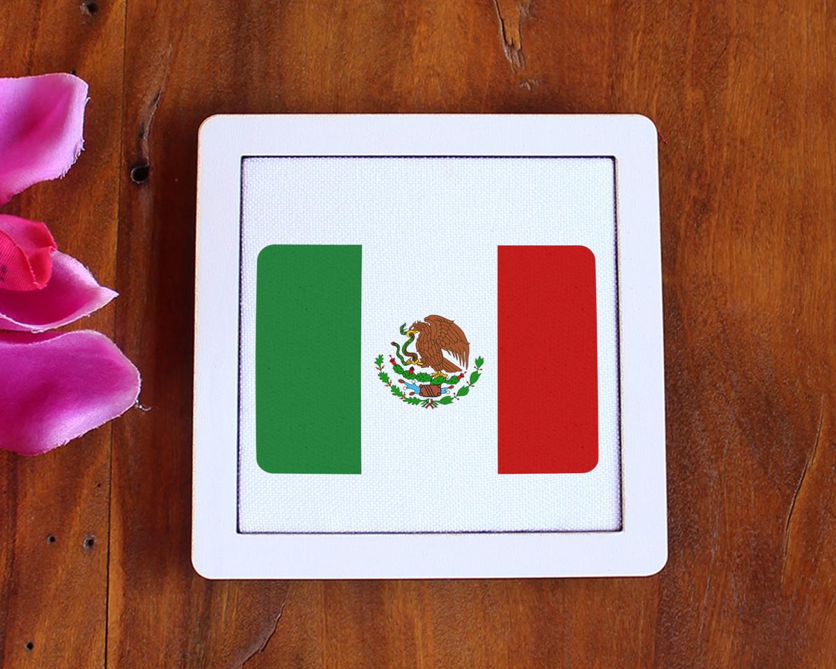 db3cac606caa Placa/quadrinho com tecido sublimado - bandeira México no Elo7 | A ...