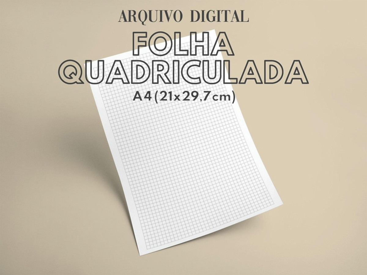 Arquivo Digital Folha A4 Quadriculada No Elo7 Joseane Rocha
