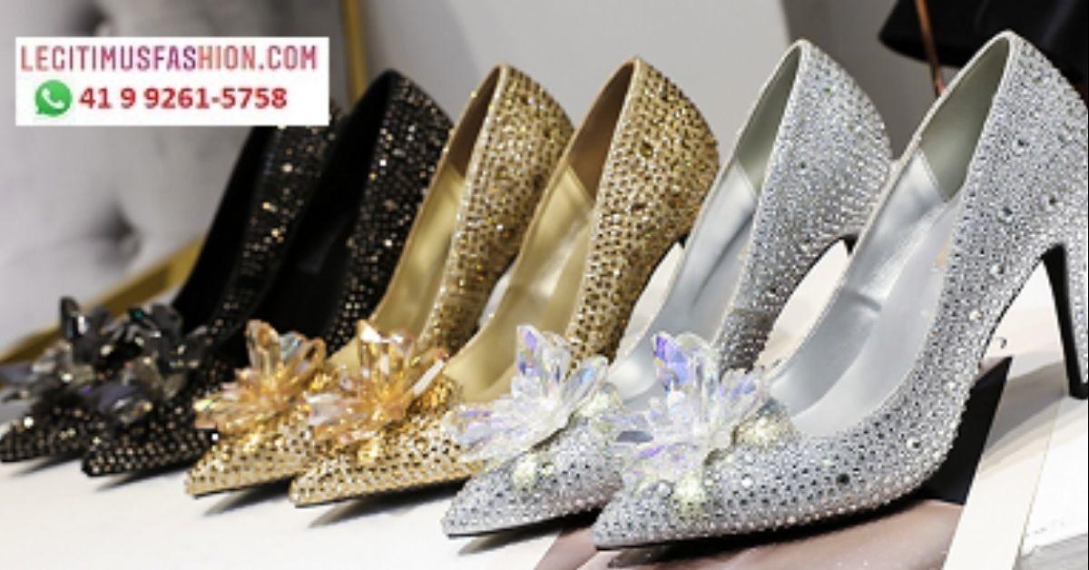 a6e7dc572 Sapato Cristais Noiva Debutante Festa 15 anos Perolas Luxo no Elo7 ...
