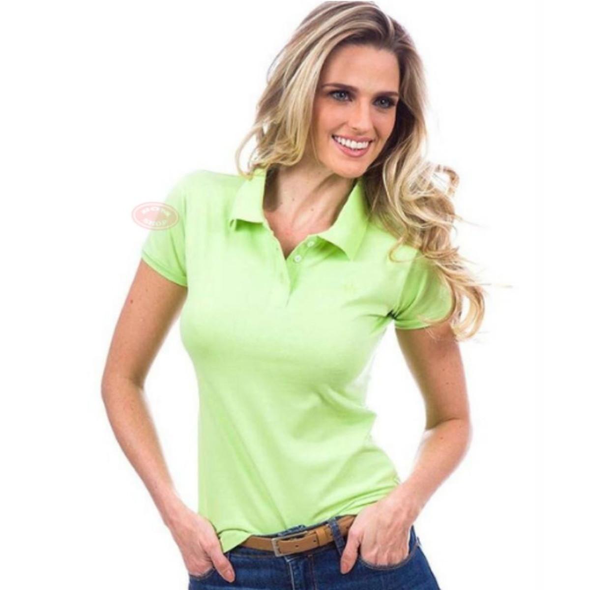 af365ecde8 10 Camisas Polo Feminina Atacado Escolha Cores e Tamanhos no Elo7 ...