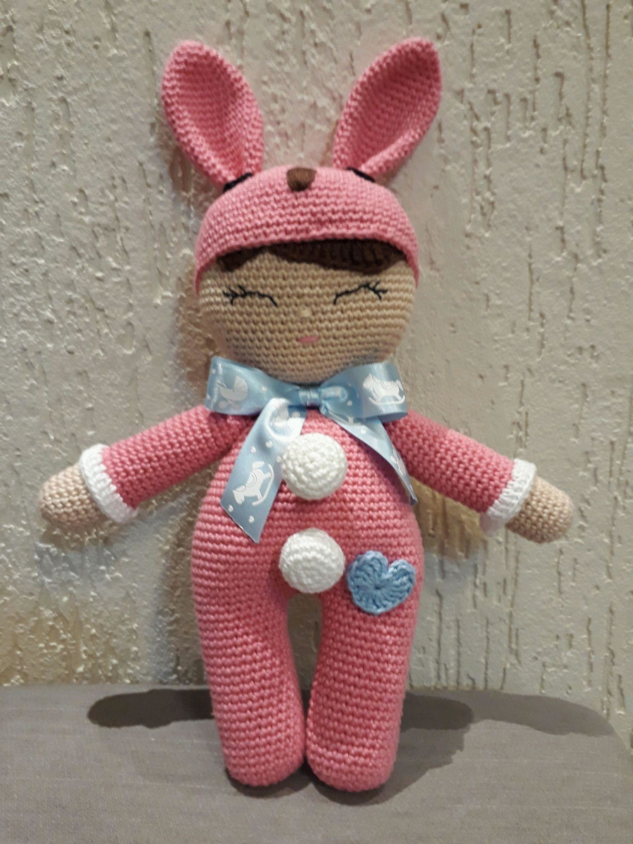 Boneca De Croche Lu + Boneca Lulu + Urso Amigurumi - R$ 350,00 em ...   1200x900