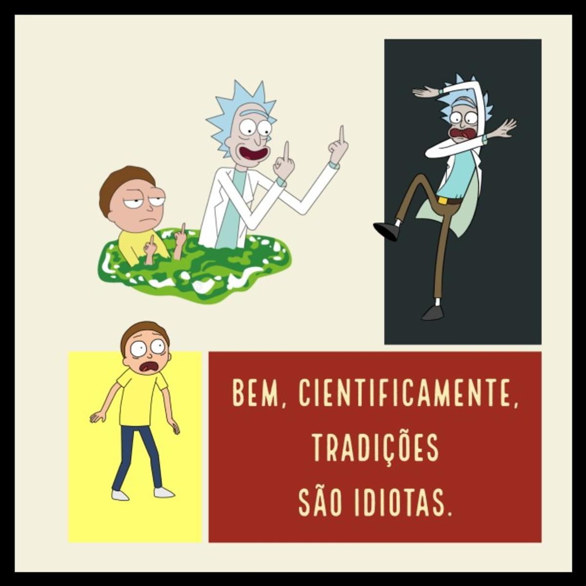Quadro Tradições Por Rick And Morty
