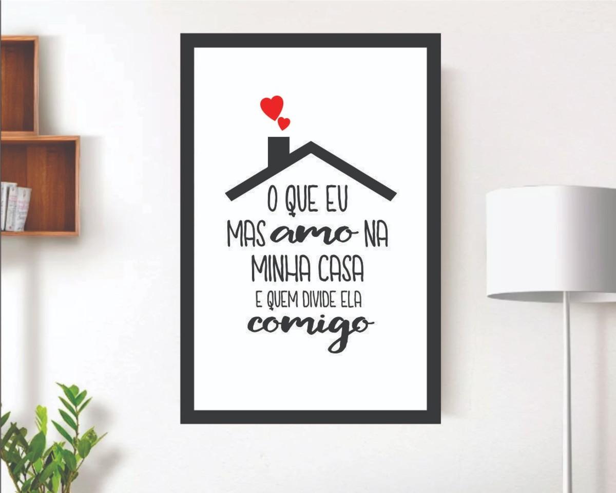 Quadros Decorativos Minimalista Frases Casal Amor Namorados