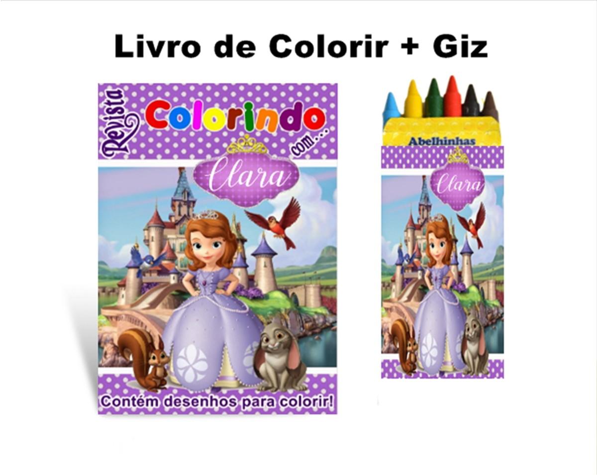 Livro De Colorir Princesa Sofia Giz De Cera No Elo7 Criartte
