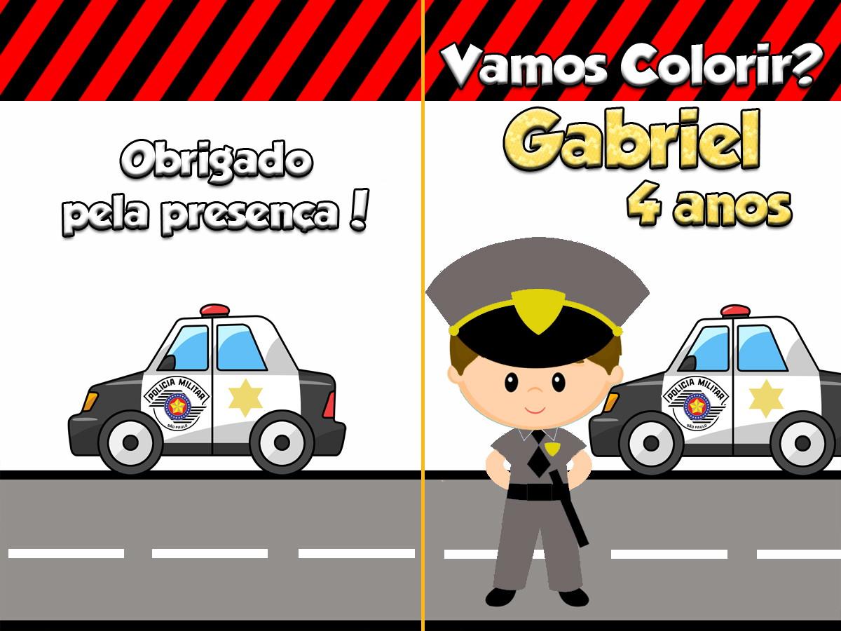 Revista Para Colorir Policial Pm Sp 14x10 No Elo7 Tudo De Festa