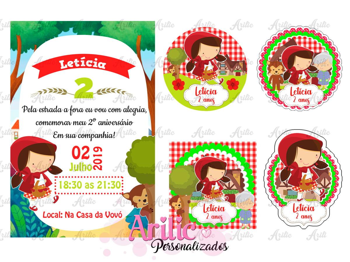 Arte Digital Chapeuzinho Vermelho Para Imprimir No Elo7 Arilic