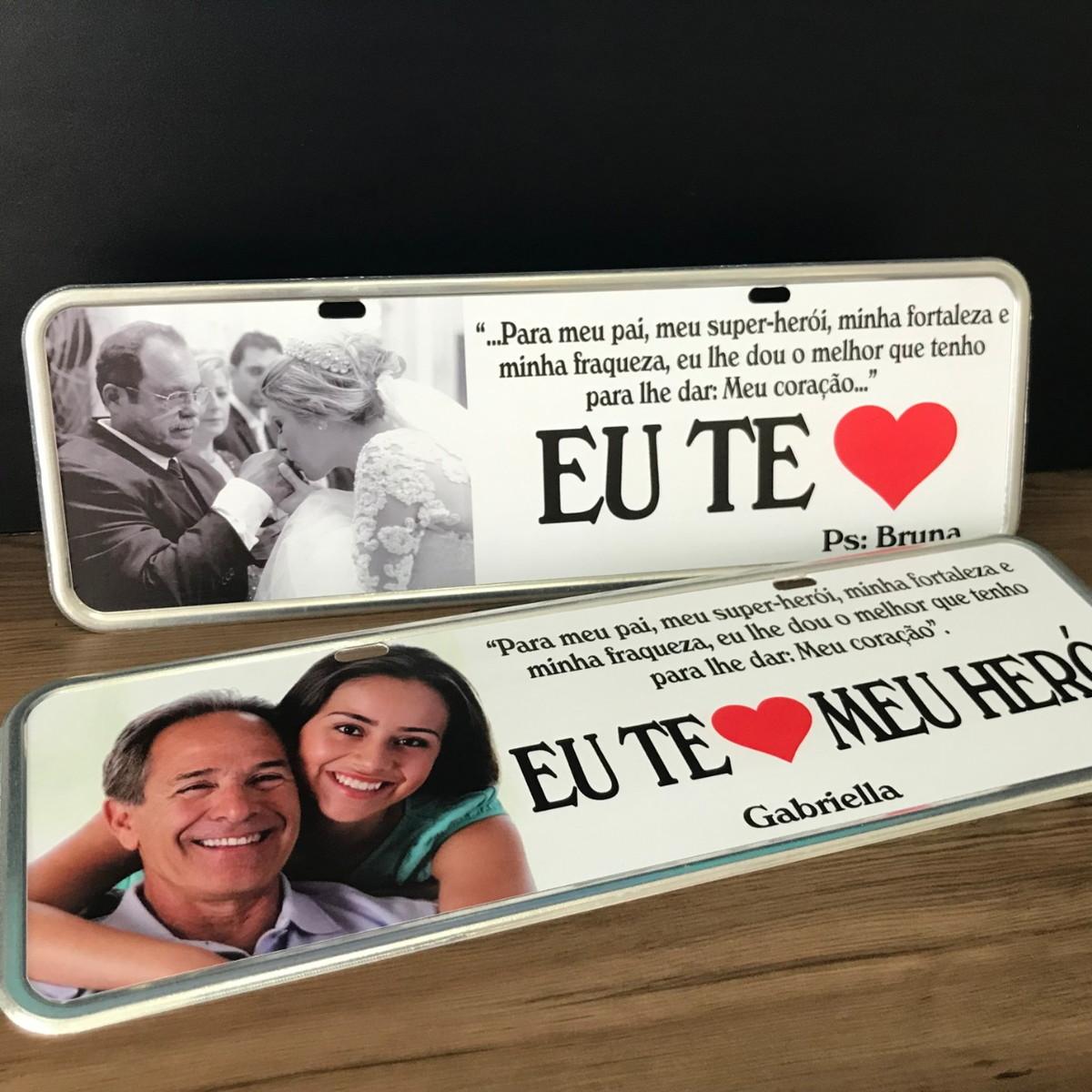 e11511fc5ec093 Kit 2 placas Customizadas Promoção dia dos Pais/Mães etc