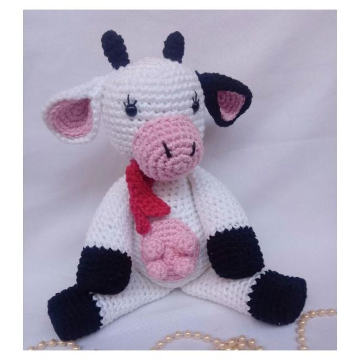 La Vaca Lola Amigurumi Peluche - $ 650,00 en Mercado Libre | 1200x1200