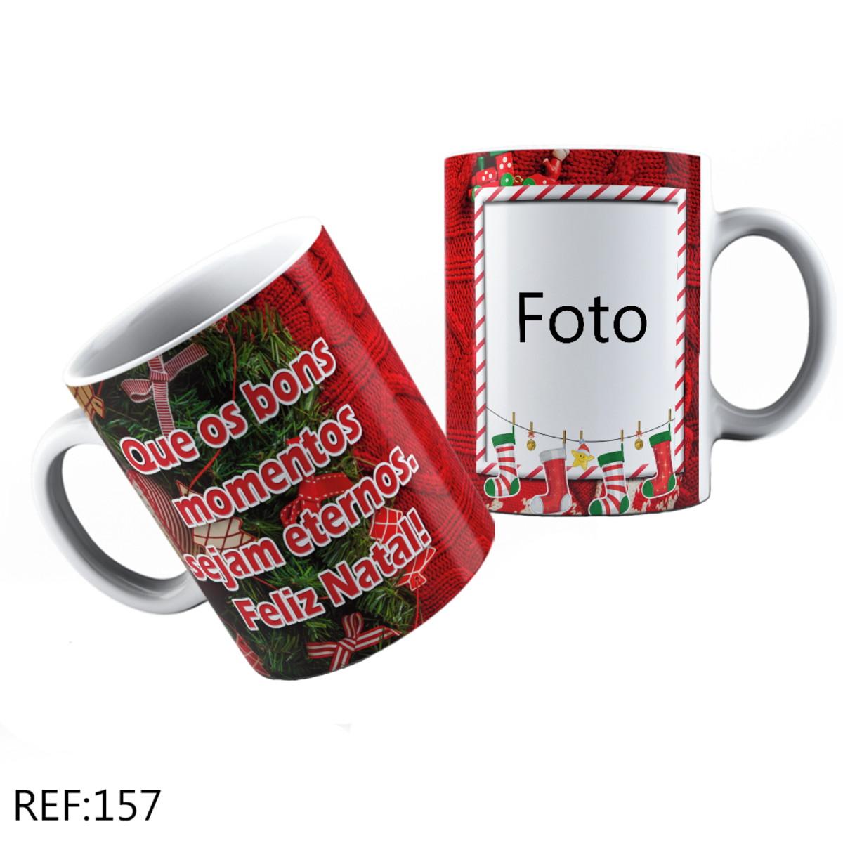 Caneca Personalizada Com Foto E Frase De Natal