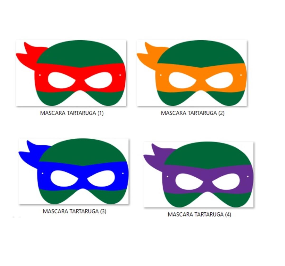 Mascara Tartaruga Ninja No Elo7 Eloarts Festejando Com