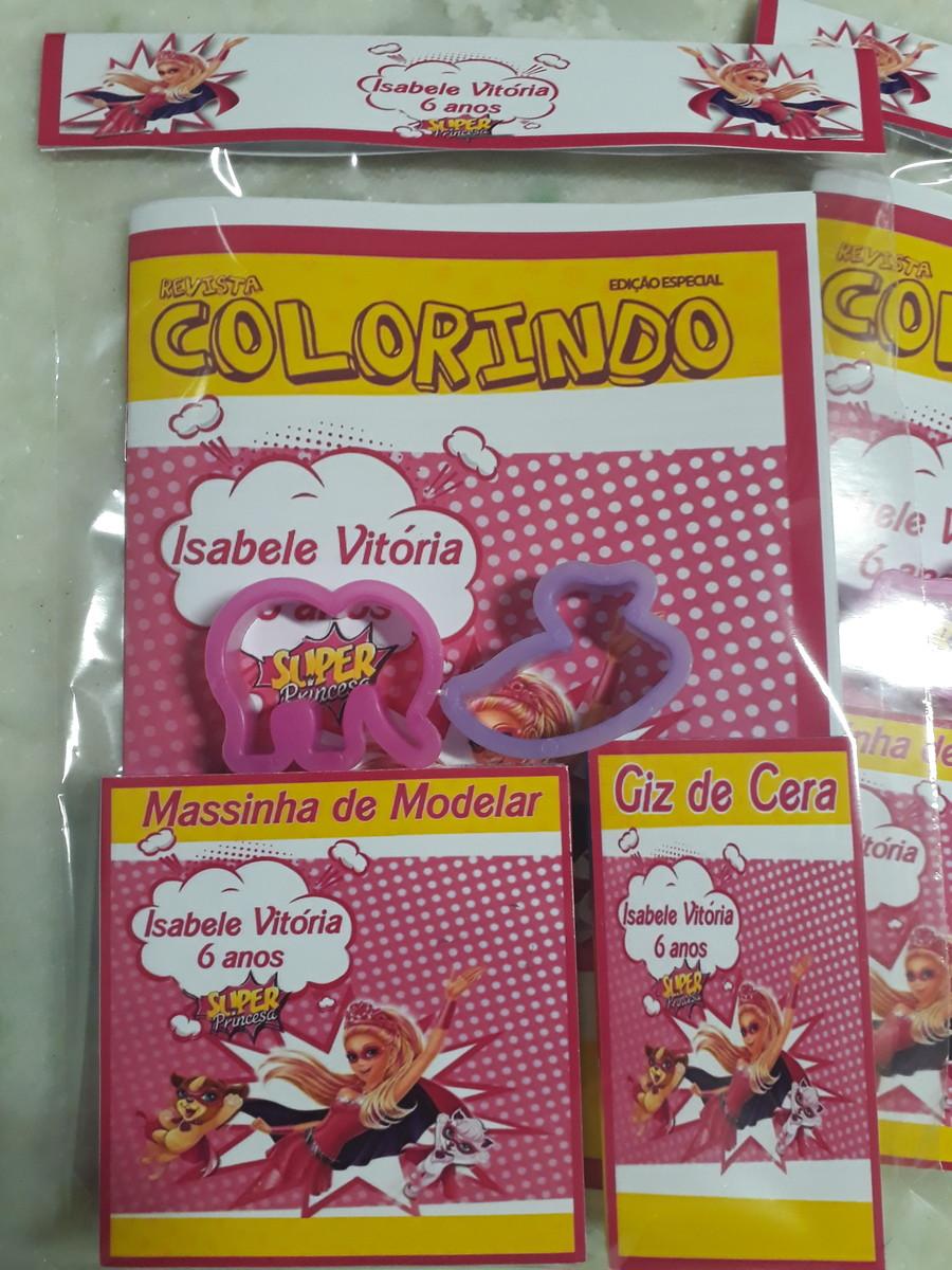 Kit De Colorir Massinha Barbie Super Princesa No Elo7 Dri