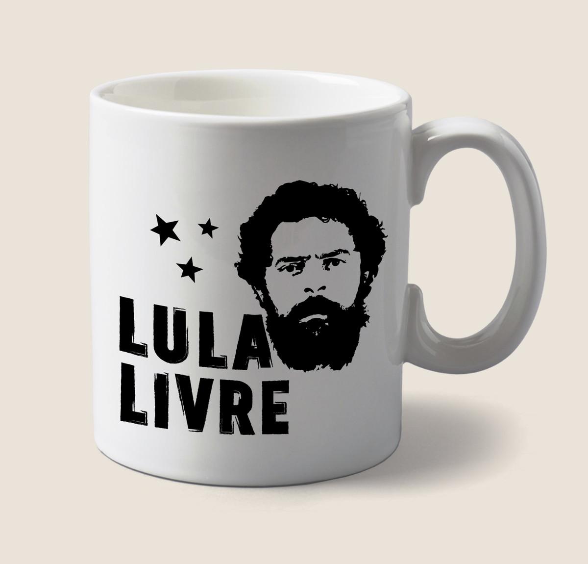 Caneca Lula Livre Vector