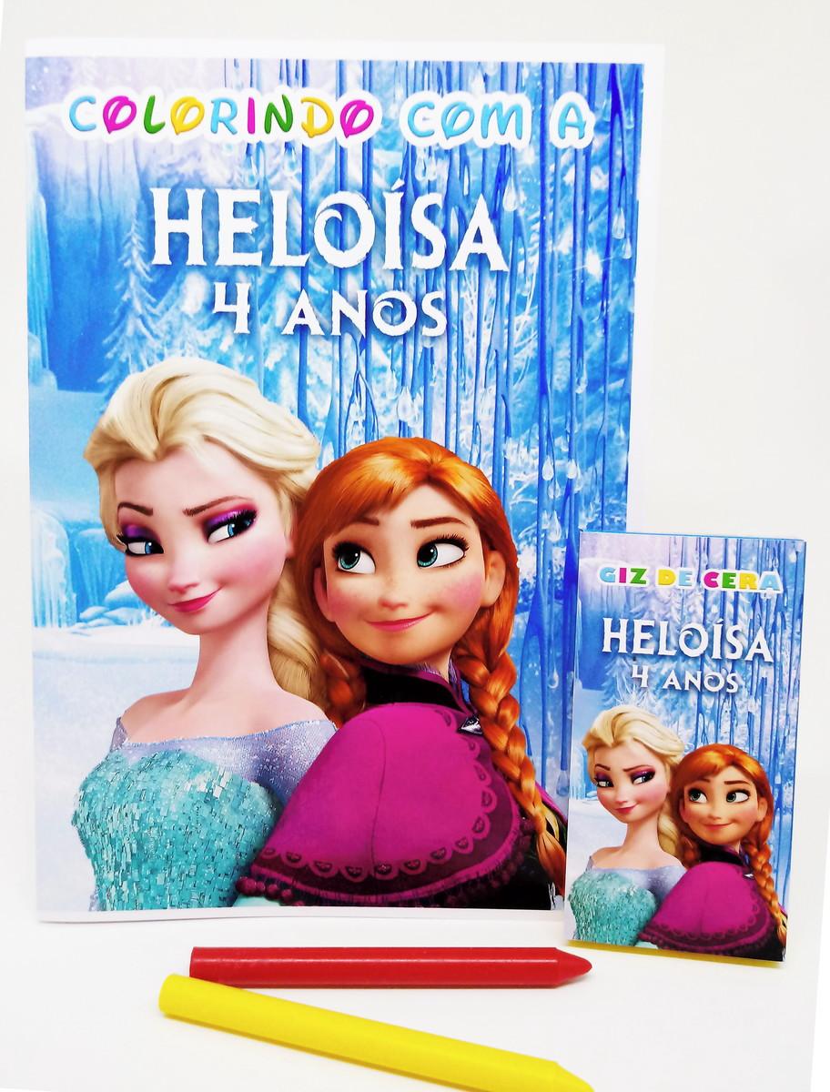 Livro Frozen Para Colorir
