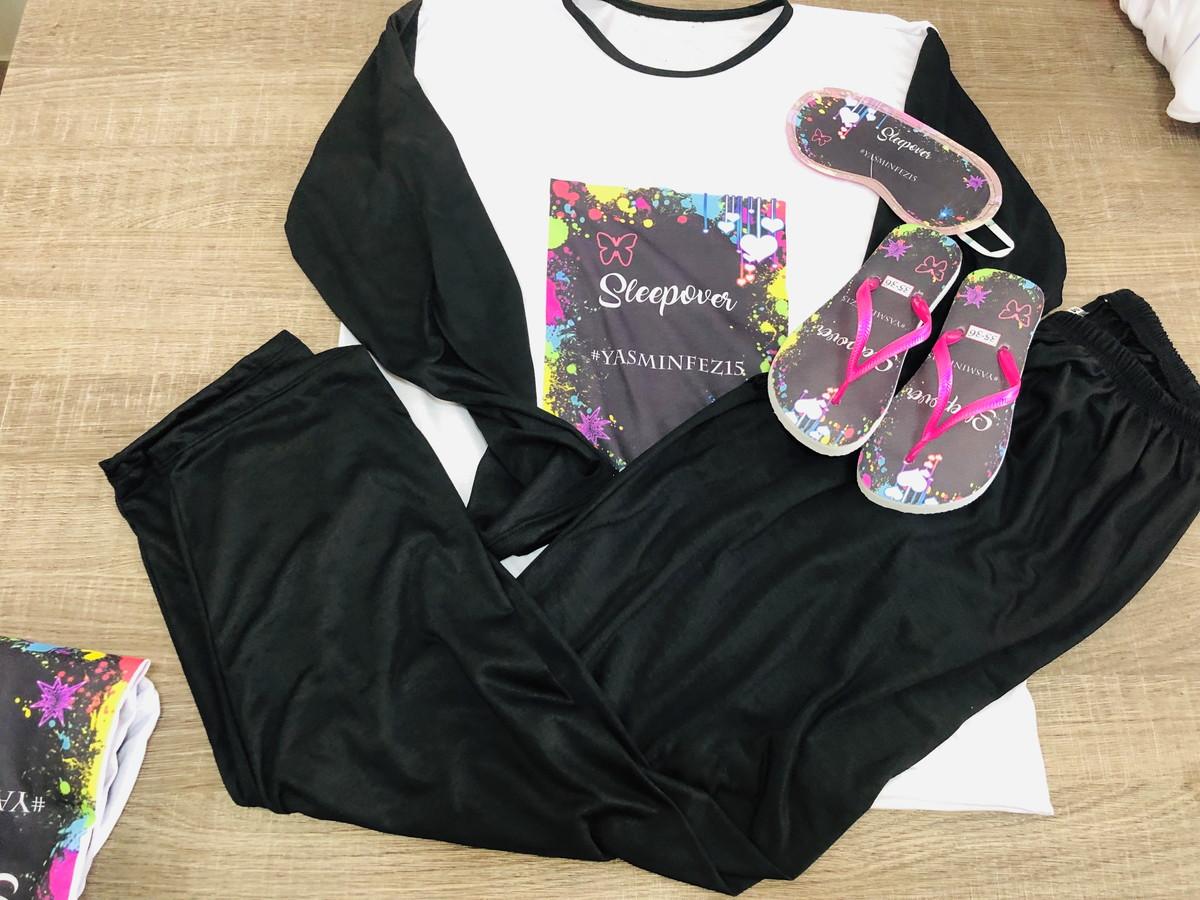 44a73b34915ad6 kit festa do pijama neon chinelo e tapa olhos