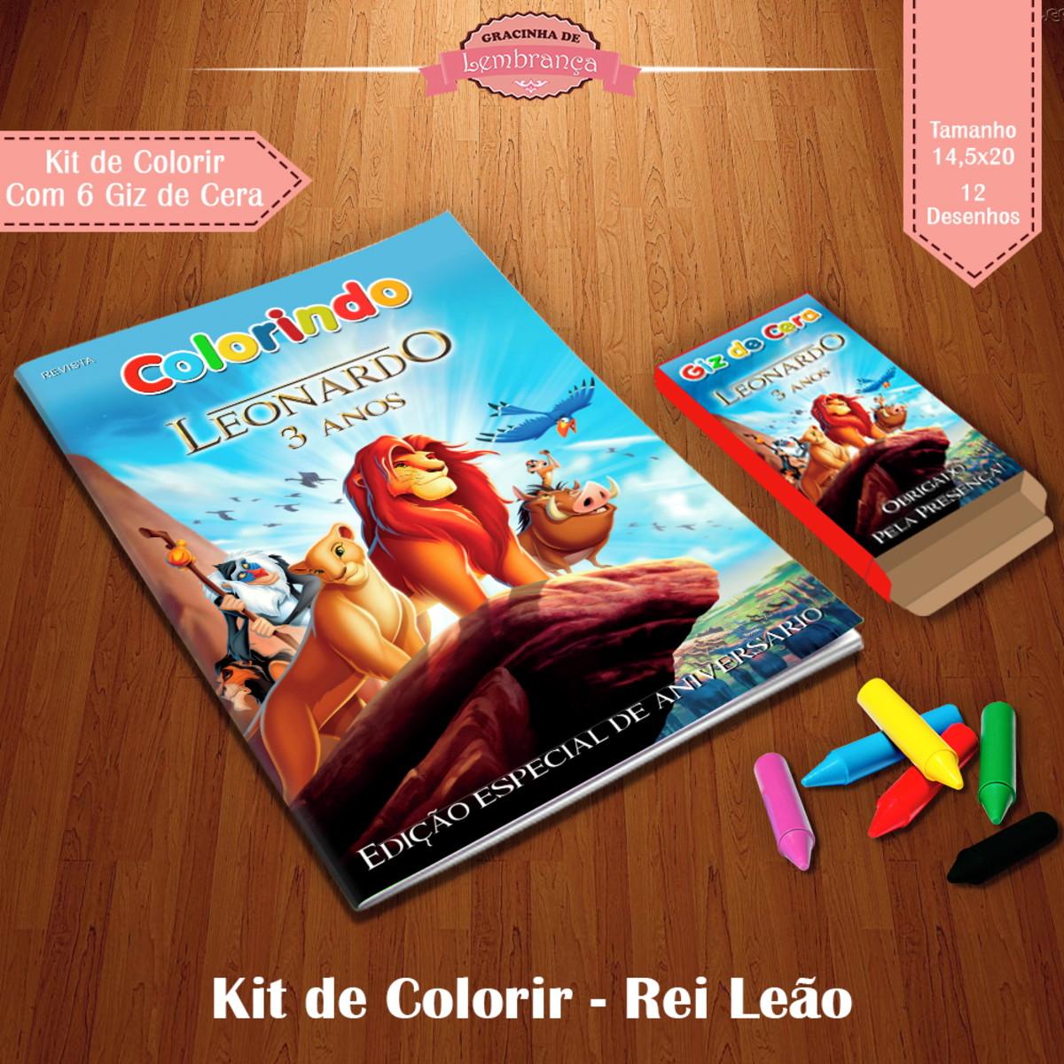 Kit De Colorir Rei Leao No Elo7 Gracinha De Lembranca Fcd601