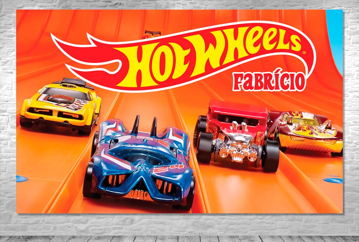 Painel Hot Wheels Personalizado Frete Gratis No Elo7 One Artes
