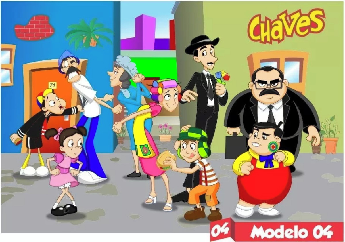 Painel Chaves Desenho Animado Decoracao Painel De Festa No Elo7