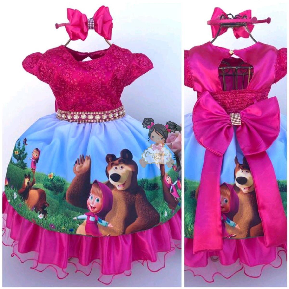 Vestido Masha E O Urso Luxo 1234 Anos