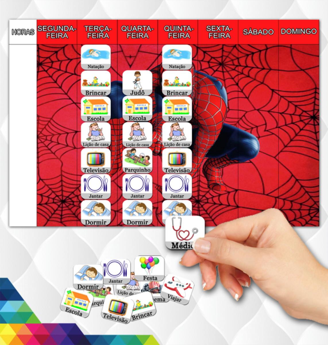 Rotina Infantil M 49 Atividades Homem Aranha Spiderman No