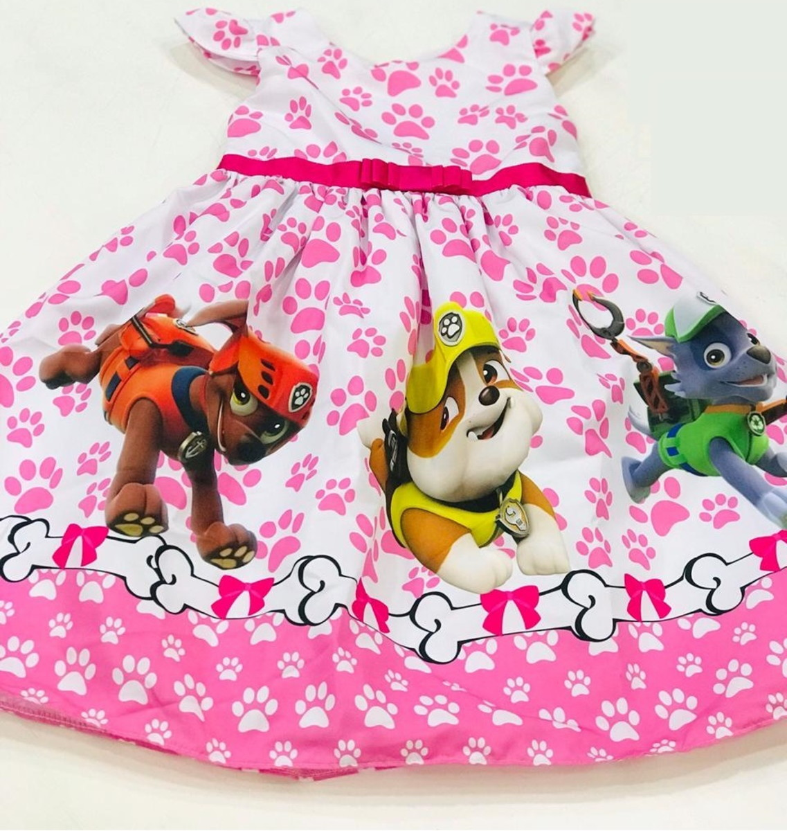 Vestido De Festa Patrulha Canina Tam 1 Ao 10
