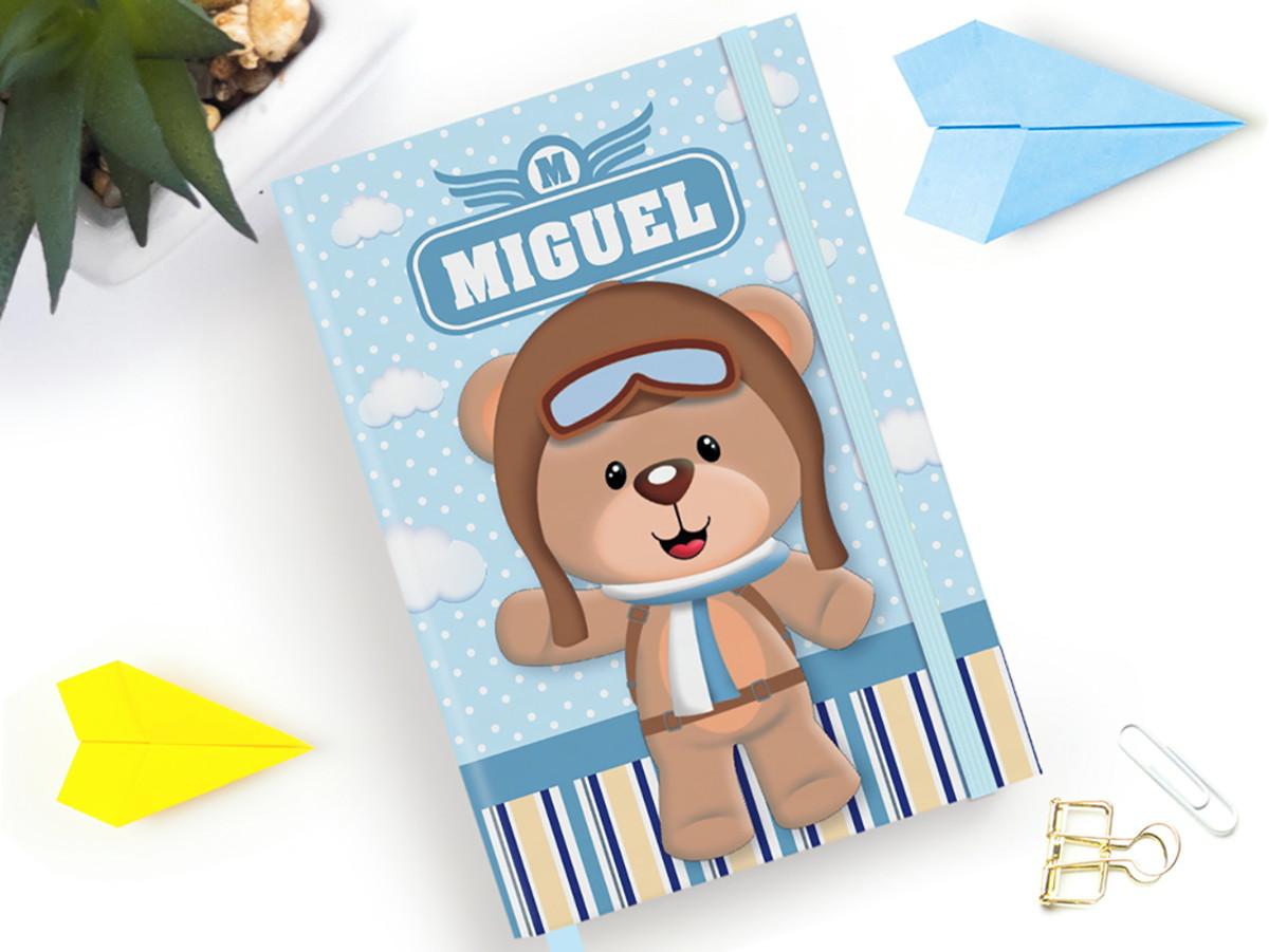 Caderno Urso Aviador A5 Personalizado No Elo7 Vertente Design