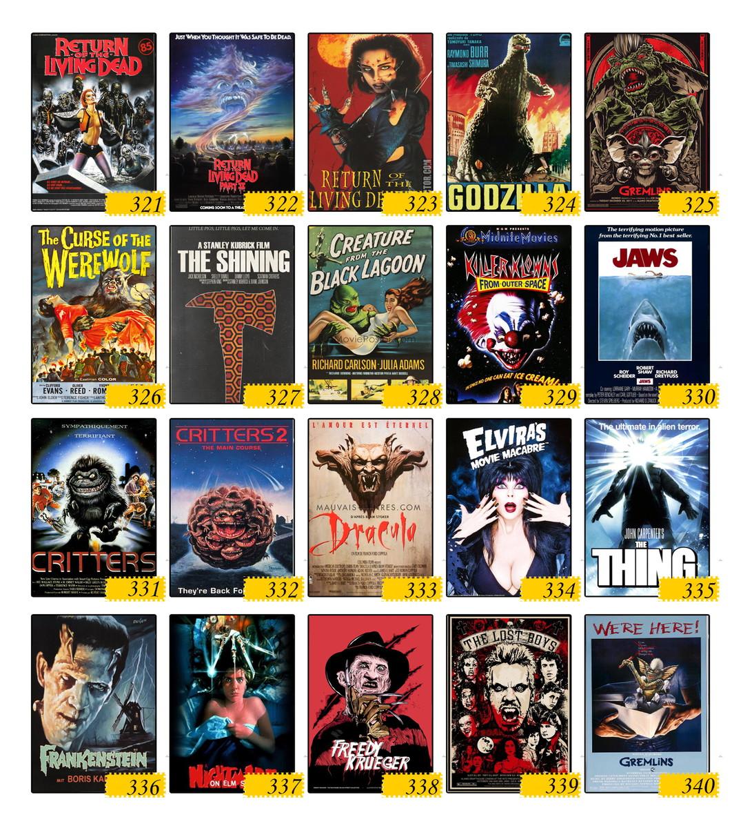 Kit 15 Placas Filmes Do Cine Trash E Terror Anos 80 E 90 Mdf