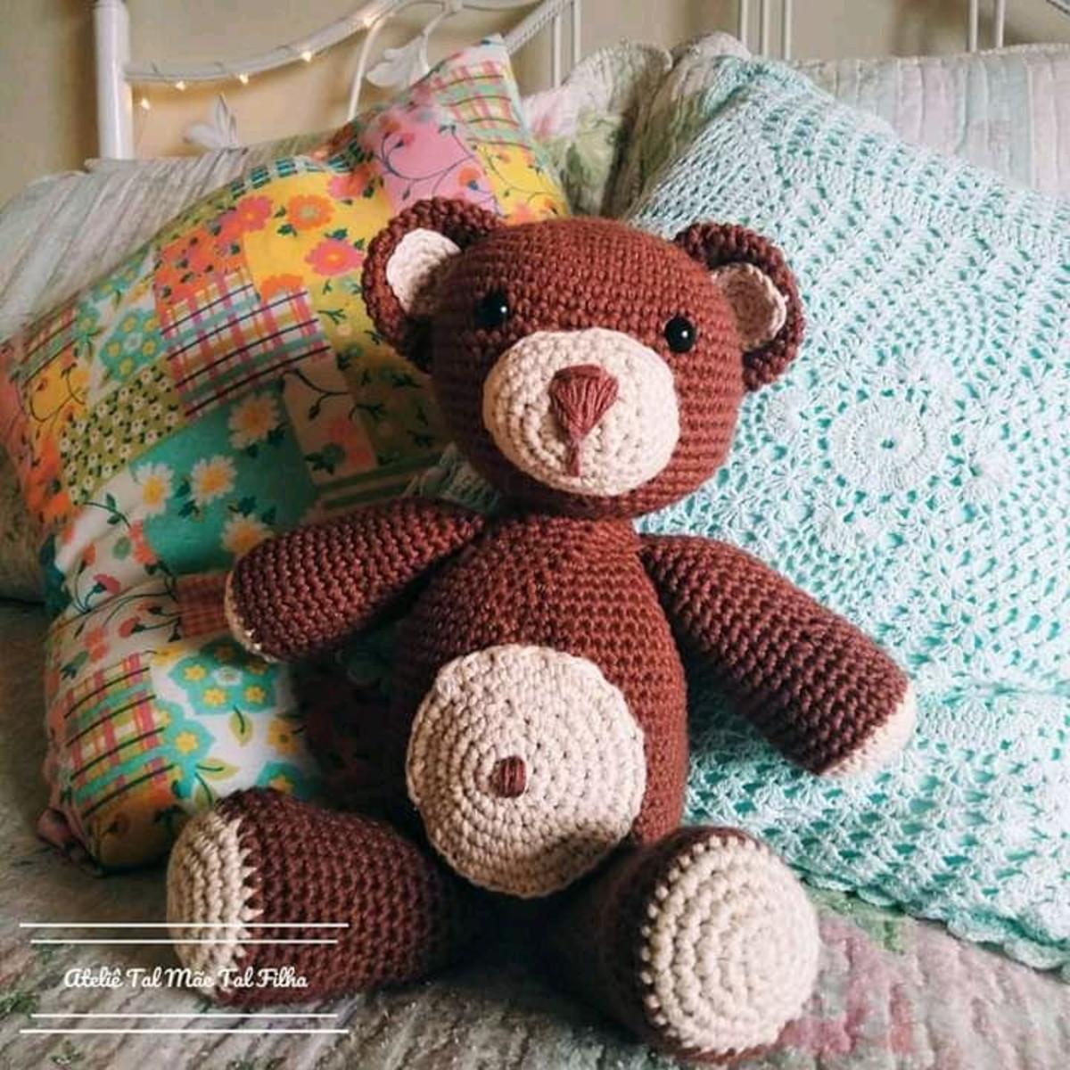 Urso Amigurumi Grande no Elo7 | Coração no Céu (11A50E9) | 1200x1200