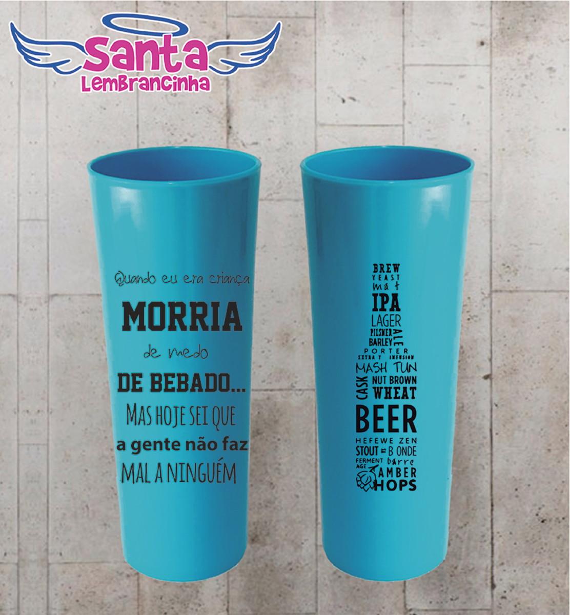 Copo Long Drink Cerveja Com Frase