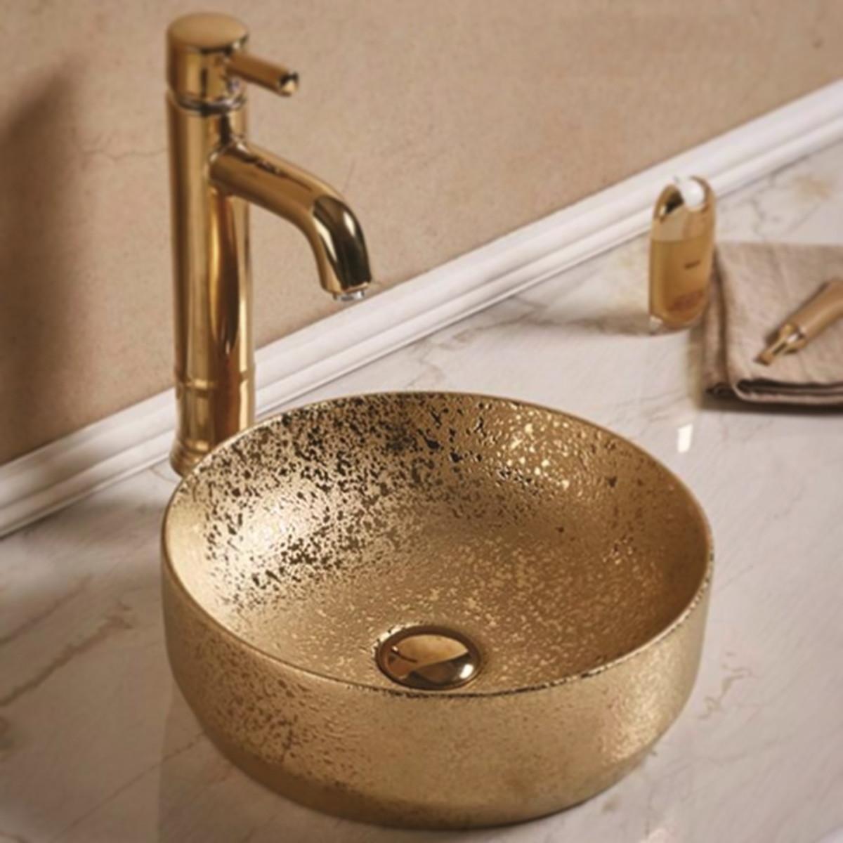 Cuba Apoio Evier Gold Banheiro Dourada 35cm Dourada No Elo7 Evier 100929f
