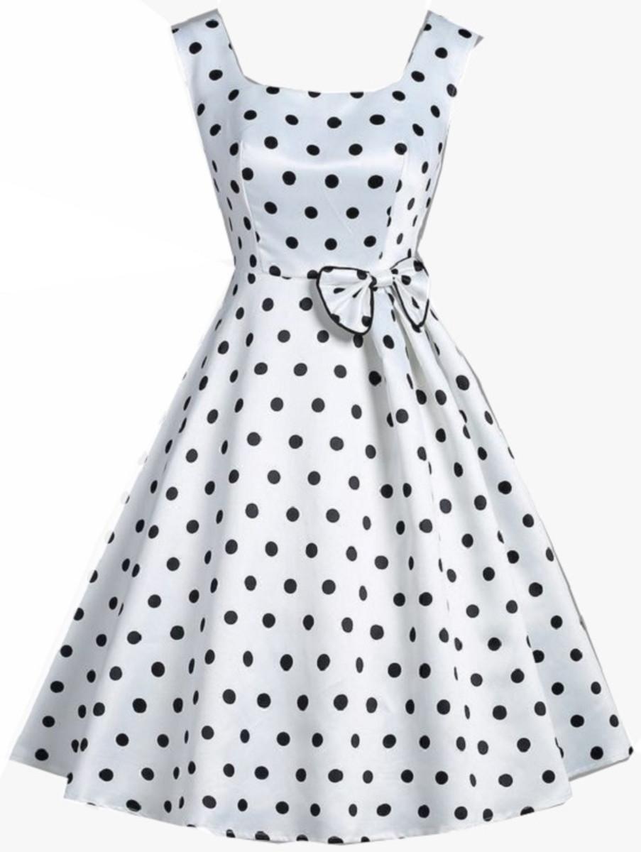 Vestido Bolinhas Anos 60 Pinup Vintage Festa Anos 50 60