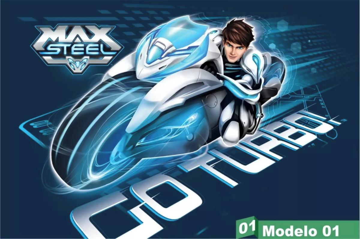 Painel Festa Lona Aniversario Max Steel Moto Turbo Desenho No Elo7