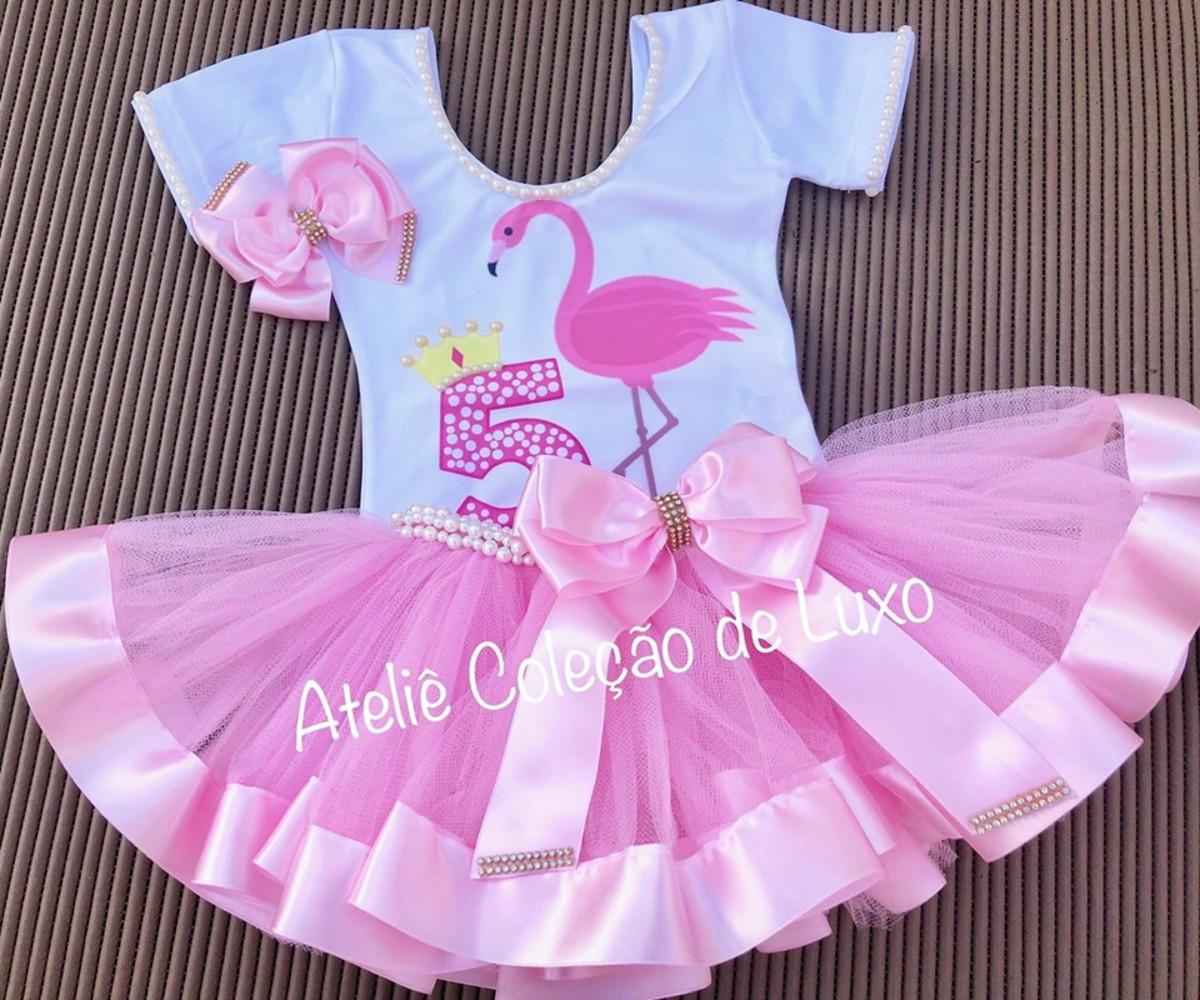Fantasia Do Flamingo Com Collant E Saia De Tutu No Elo7 Atelie Colecao De Luxo 101685a