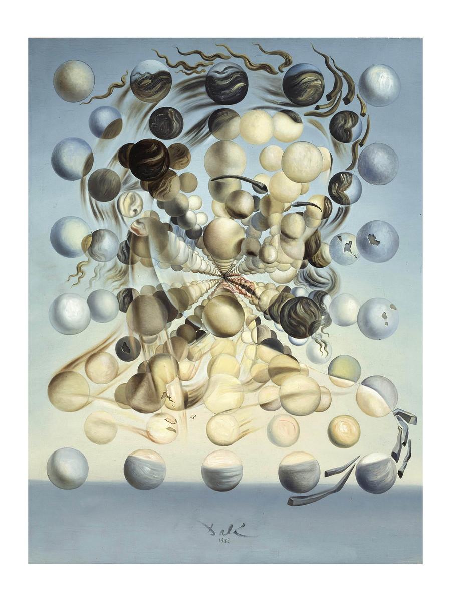 Poster Salvador Dali Galatea Das Esferas Mulher Rosto 60x80