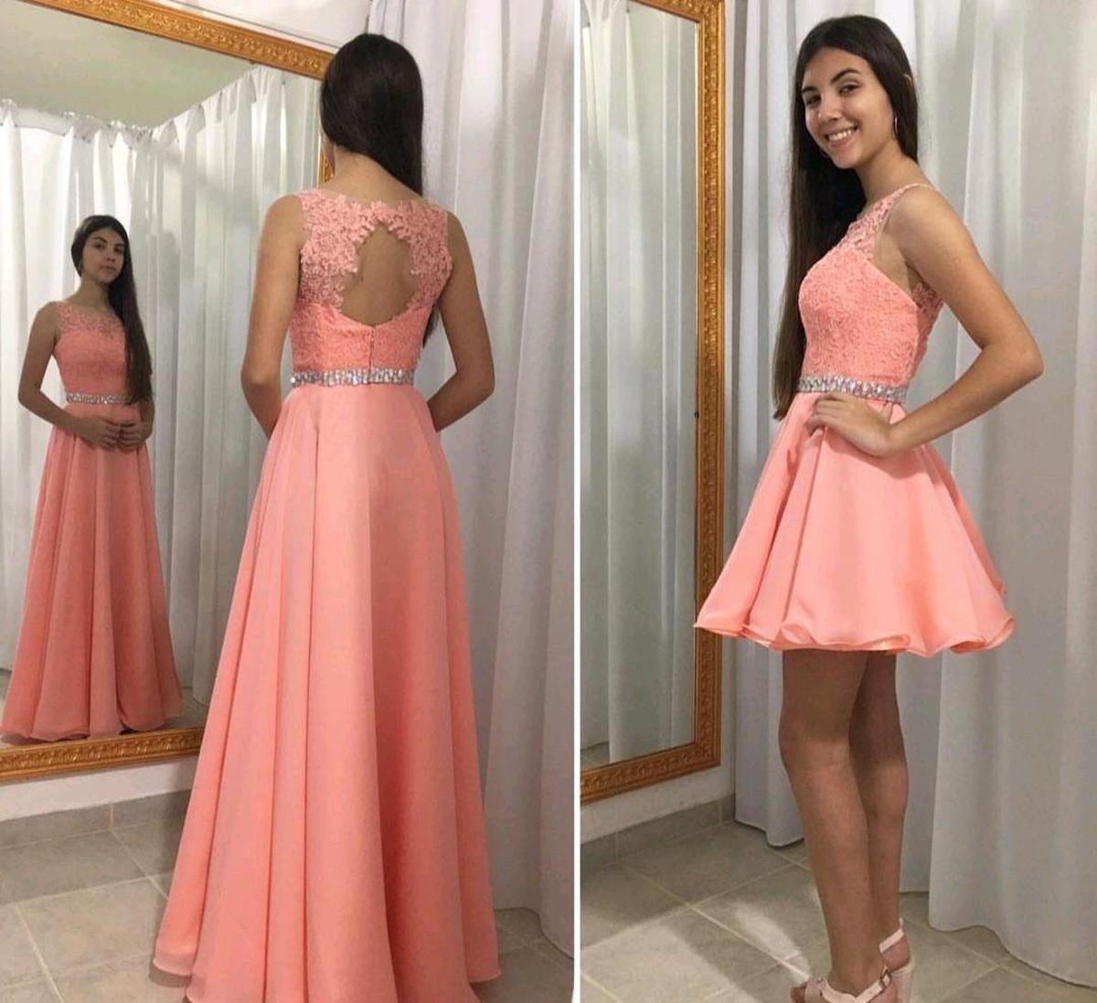 Vestido Debutante 2 Em 1