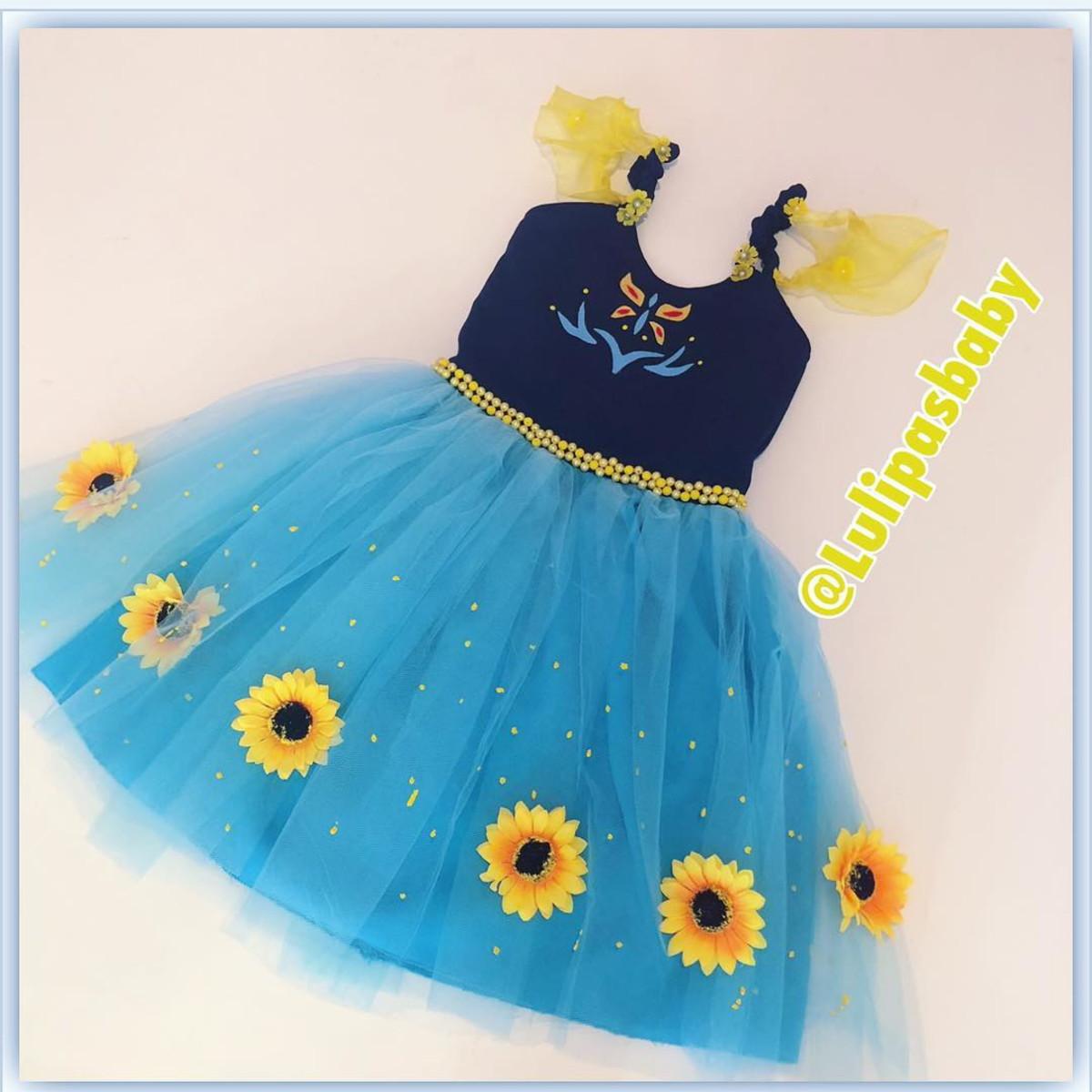 Vestido Anna Frozen Fever