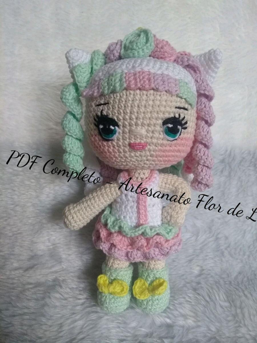 Modelos de Amigurumi Boneca Lol | Crochet dolls, Crochet amigurumi ... | 1200x900