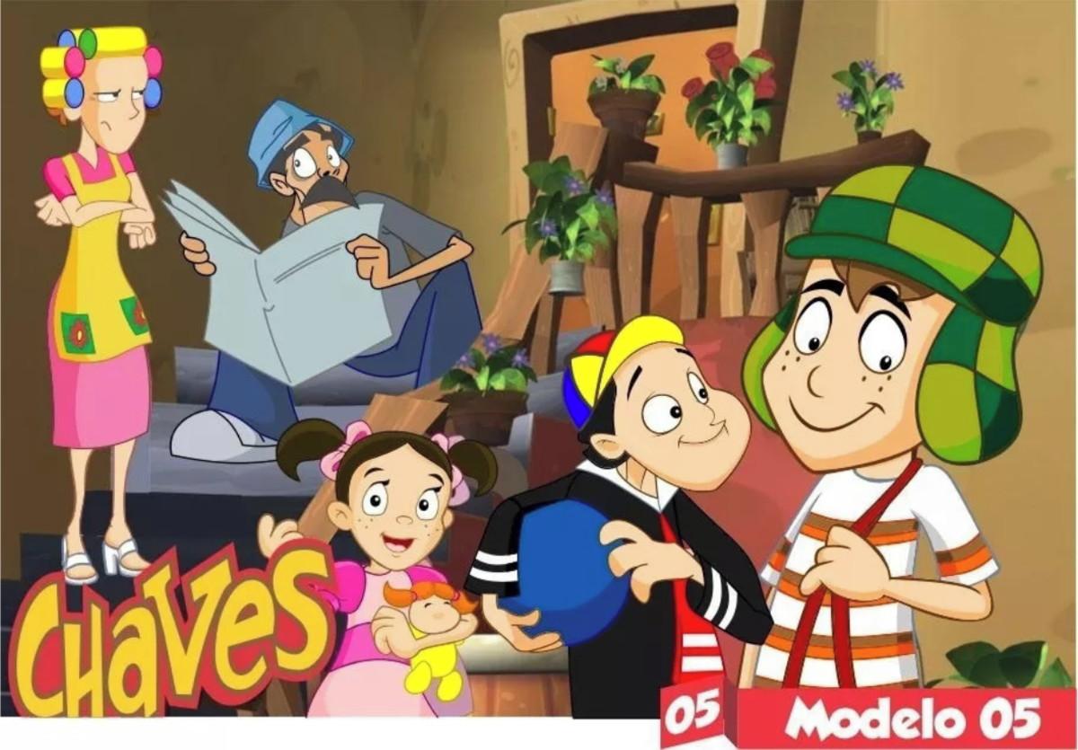 Painel De Festas Chaves Desenho Animado Vila Infantil Kids No Elo7